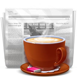 And, Coffee, News Icon