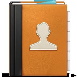 Address, Book, Ornage Icon