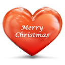 Christmas, Heart, Merry Icon