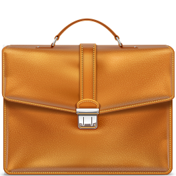 Briefcase, Leather Icon