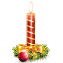 Candle, Holiday Icon
