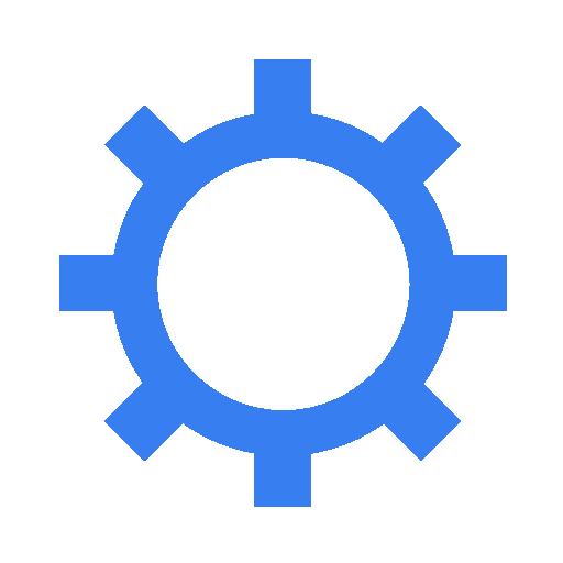 Blue, Settings Icon