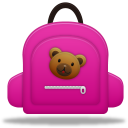 Girl, Schoolbag Icon