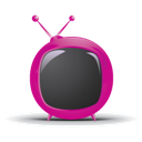 Red, Rounded, Tv Icon