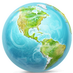 Blue, Earth Icon