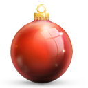 Bauble, Red Icon