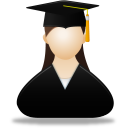 Female, Graduate Icon