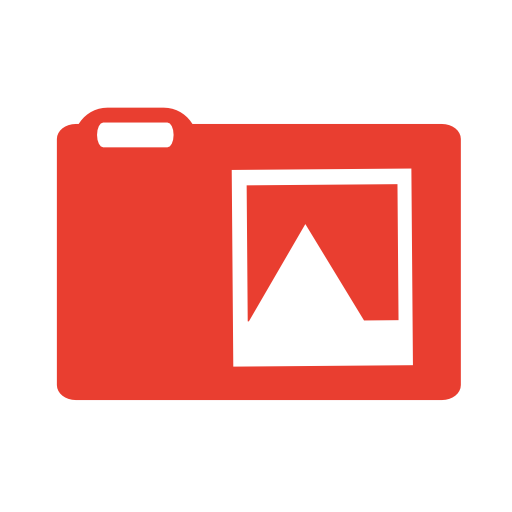 Pictures, Red Icon