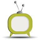 Green, Rounded, Tv Icon