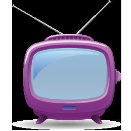 Purple, Tv Icon - Download Free Icons