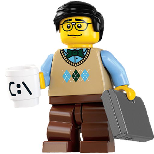 Computer, Guy, Lego Icon