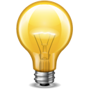 Bulb, Light, Yellow Icon