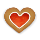 Christmas, Cookie, Heart Icon