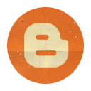 Blogger, Retro, Rounded Icon