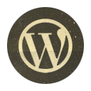 Retro, Rounded, Wordpress Icon