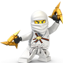 Lego, Ninja, White Icon