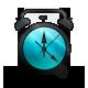 Alarm, And, Black, Blue, Clock Icon