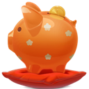 Orange, Piggybank Icon