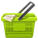 Basket, Green, Shopping Icon