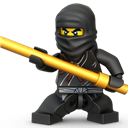 Black, Lego, Ninja Icon