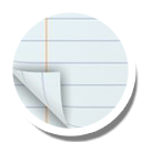 Notepad, Round Icon