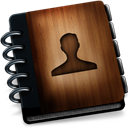 Contactsb, Wooden Icon