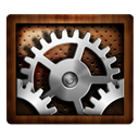 Settings, Wooden Icon