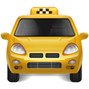 Taxi, Yellow Icon