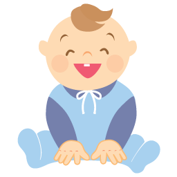 Baby, Boy, Laughing Icon