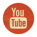 Retro, Rounded, Youtube Icon