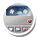 Recorder, Rood, Voice Icon