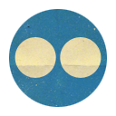 Flickr, Retro, Rounded Icon