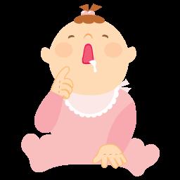 Baby, Girl, Vomit Icon