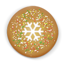 Christmas, Cookie, Snow Icon