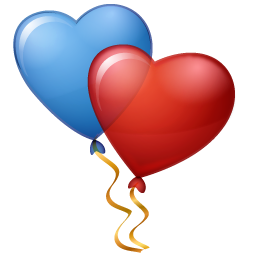 Balloons, Hearts Icon