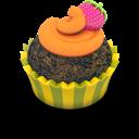 Chocolate, Cupcake, Orange Icon