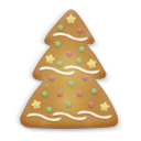Christmas, Cookie, Tree Icon