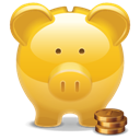 Bank, Golden, Piggy Icon