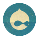 Drupal, Retro, Rounded Icon