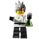 Lego, Mad, Scientist Icon