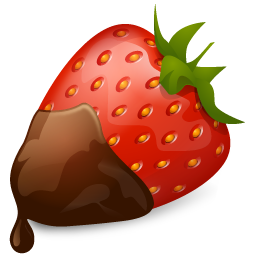Chocolate, Strawberry Icon