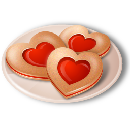 Cookies, Hearts Icon