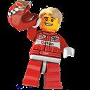 Driver, Lego, Racecar Icon