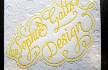 Sophie Gallo Design business card