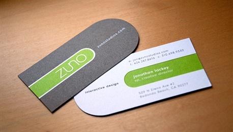 Zuno Studios business card