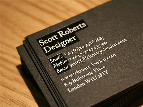 black,foil stamped,stylish business card