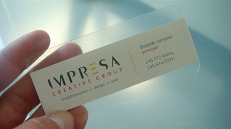 creative,transparent,plastic,round corner business card