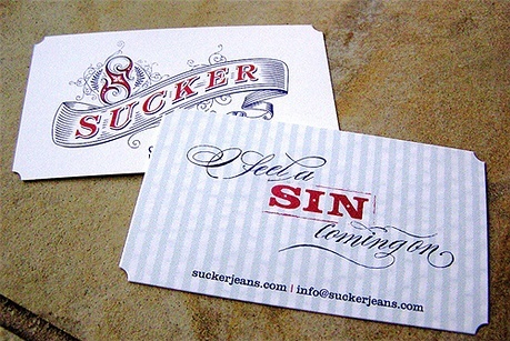 Sucker Jeans business card