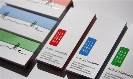 Arthur Lhermitte business card