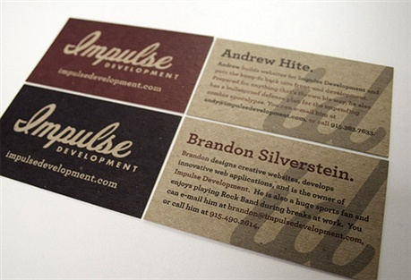 2 color business card